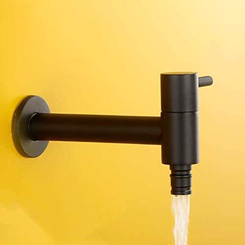 GUOCAO Cuarto de baño de latón sólido único grifo de lavadora de agua fría alargar el lavabo del baño grifo de una sola función montado en la pared G1/2 conector de cocina