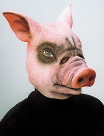Orlob Maske Schwein Tiermaske Schweinemaske zum Kostüm Karneval Fasching