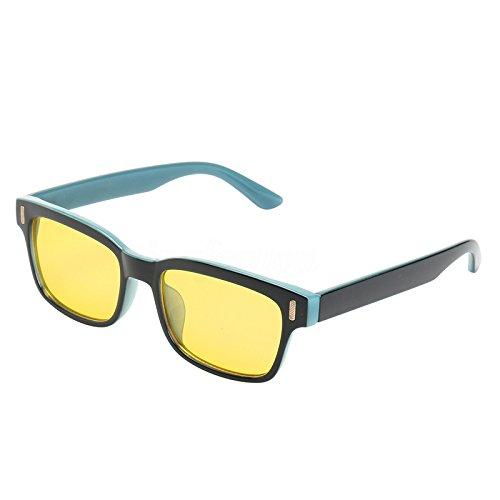 NaroFace Spielbrille Blaues Licht blockierende und Anti-Gläser Blendung - Unisex (Schwarz + Blau)