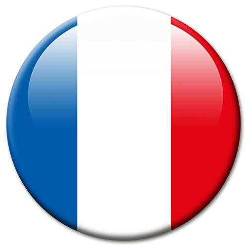 Kühlschrankmagnet Frankreich Flaggen Magnet Länder Reise Souvenir Flagge France für Kühlschrank stark groß 50 mm