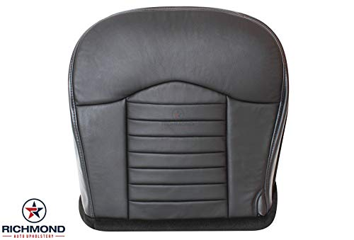 Richmond Auto Upholstery - Driver Side Bottom Replacement Leather Seat Cover, Black (Compatible With 2000 Ford F-150 F150 Harley Davidson Edition Supercharged)