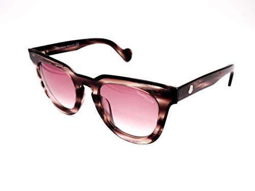 Moncler Unisex-Erwachsene ML0008 81T 48 Sonnenbrille, Violett (Viola Luc/Bordeaux Grad)