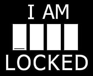 I Am ____ Locked Sherlock Decal Vinyl Sticker|Cars Trucks Vans Walls Laptop| White |5.5 x 4.5 in|LLI136