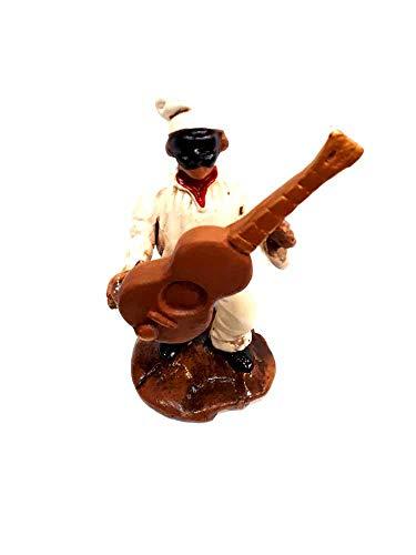 figura colonia guitarra Familia de los 10cm aprox. Terracota con diferentes posiciones y objetos por maestros artesanos de SAN gregorio armeno Tor belén SAN G. armenio ricevi Un llavero