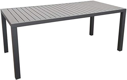 Proloisirs Table extérieure en Aluminium Plateau à Lattes Alice 180 cm