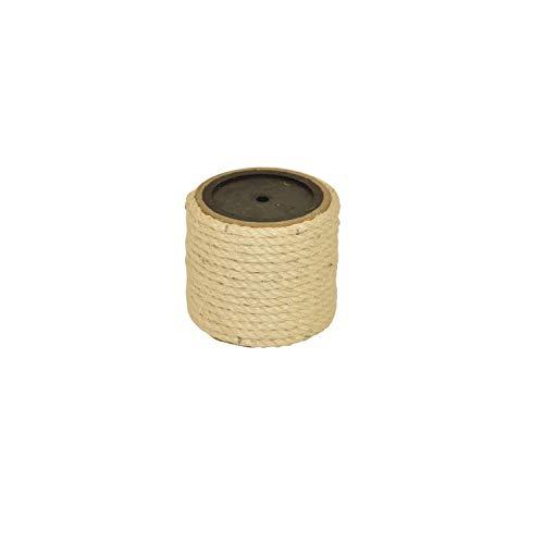 nanook Sisalstamm Ersatzstamm für Kratzbäume - Verschiedene Längen - Durchmesser 9 cm Ø für Gewinde M8 - Länge 15 cm