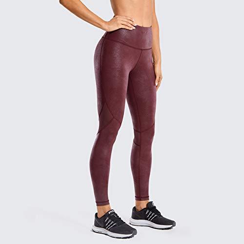 Mdsfe Damen Textur Leggings Fitness Mesh Strumpfhosen Mode Damen Yogahosen Jogginghose - Red04 (Mesh), XXL (US14)