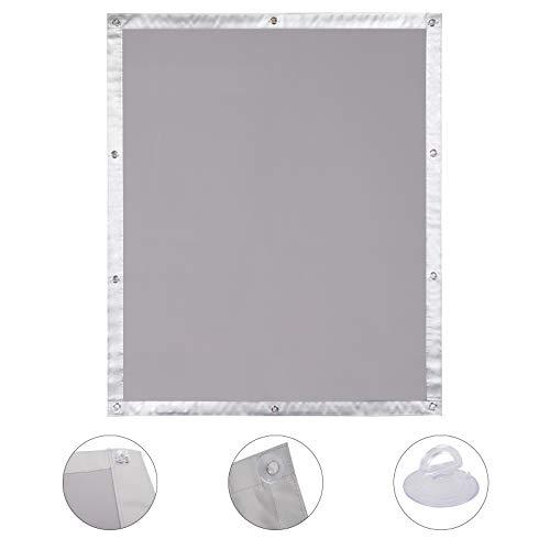 EUGAD Estor para Ventanas de Techo Bloque Tragaluz Velux Protector Solar Protección UV Grado A sin Taladrar 96x93 cm(BxH) Color Gris 0002TCL