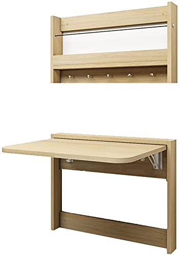 Mesa plegable para pared que ahorra espacio, escritorio plegable con estantería de fácil instalación para el hogar o la oficina (color blanco tamaño: 84 x 49 cm) - 64 x 49 cm _A