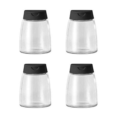 Tarros de especias de 150 ml para condimentos de condimentos para condimentos, botella de vidrio transparente, tarros de especias para salud e higiene