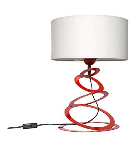 Light-Home Abat Jour da Comodino Moderne Lampada da Tavolo - Elegante Lampada da Comodino con...
