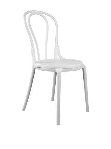 lo+demoda Tonet Silla, Blanco, 55x45x82 cm, 2 Unidades