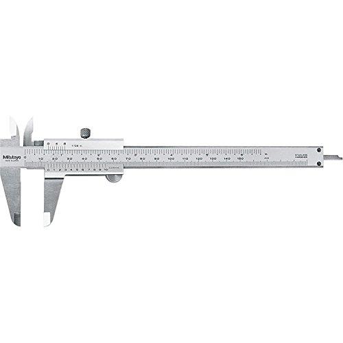 Mitutoyo 530-316 Vernier Caliper, Stainless Steel, Inch/Metric, 0-6
