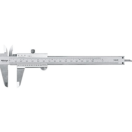 "Mitutoyo 530-316 Vernier Caliper, Stainless Steel, Inch/Metric, 0-6"" Range, +/-0.002"" Accuracy, 0.0078"" Resolution"