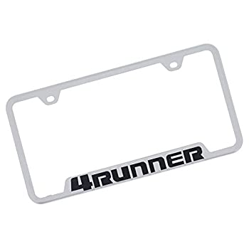 Toyota CarBeyondStore Toyota 4Runner Polished Stainless Steel License Plate Frame,chrome