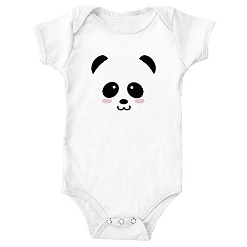 Promini Funny Baby Panda Baby Body Lindo Bebé De Una Pieza Mono Bebé Mameluco Mejor Regalo Para Bebé Blanco