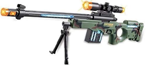 JOYSAE AW50 Sniper Military Combat Toy Machine Gun with Colorful LED Light and Sound Effect