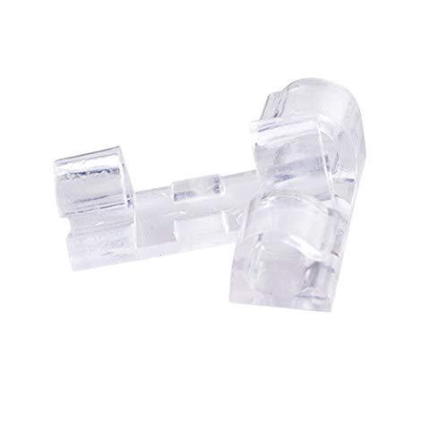 Selbstklebende Kabelklemmen, für Kabel-Management, Kabelhalter, Klemmen, Kabelbinder für Auto, Büro und Zuhause, 40 Stück, transparent