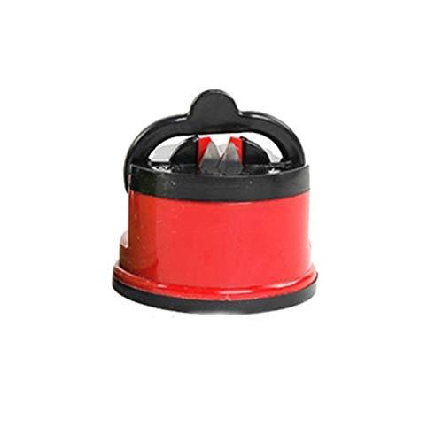 DANHUI Afilador de Cuchillos Herramienta de Afilado fácil y Seguro de afilar Cuchillos de Chef de Cocina afilador de Cuchillos de Damasco (Color : Red)