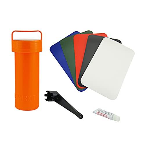 Bote de plástico inflable, Kayak, kit de reparación de PVC, kit de parche de reparación de PVC impermeable, llave de válvula de pegamento, contenedor, cubo, accesorios para bote