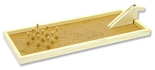 matches21 Tischkegelbahn Tisch Kegelbahn Kegelspiel Bausatz f. Kinder Werkset Bastelset ab 11 Jahren