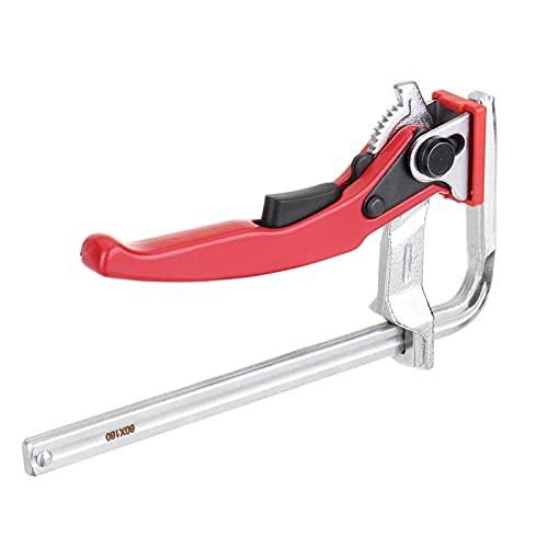 2/PC 1 Abrazadera de alta resistencia de acero de seguridad F Barra de abrazadera Ajustable Liberación rápida for el sistema de carril de guía Carpintería Bricolaje Herramienta de mano