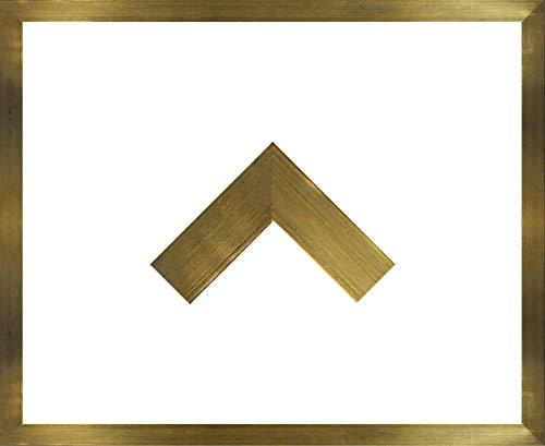 Massivholz-Bilderrahmen Jersey 61 x 91 cm. Gold ohne Verglasung Aber mit weißer Rückwand - WhiteFix. Posterrahmen in vielen Farben und Größen. Anfertigung nach Maß möglich.