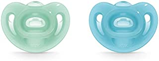 NUK Sensitive Orthodontic Pacifiers, Boy, 0-6 Months, 2-Pack