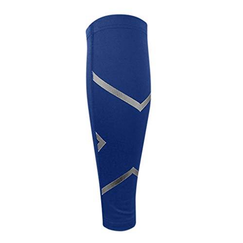 QUICATCH Unisex Calf Compression Sleeve Leg Compression Socks for Shin Splint Calf Pain Relief for Hiker Runners Joggers Nurses Maternity(XL,Blue)