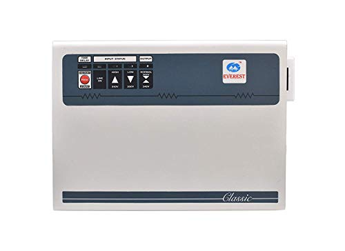 Everest EWD 500 Double Booster Wide Range Voltage Stabilizer for AC Upto 2 Ton, (100% Copper), Working Range : (130 V to 300 V) with 5-Year Warranty