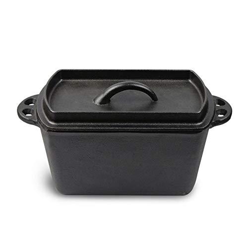 QAQWER Gietijzeren Pan Koekenpan, Gietijzeren Brood Pot Bakken DIY Keuken Oven