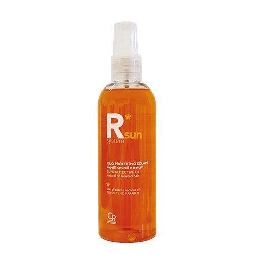 R * System Sun - Huile Solaire Protectrice - Protection Solaire pour Cheveux Naturels ou Colorés - Préserve la Reconstruction et les Traitements Couleurs des Dommages du Soleil - 150 ml