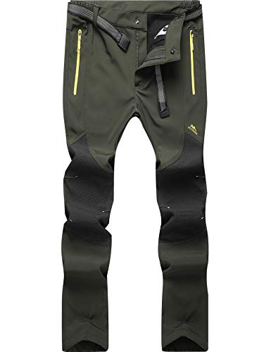BenBoy Pantalones de Montaña Hombre Impermeables Invierno Calentar Pantalones Trekking Escalada Senderismo...