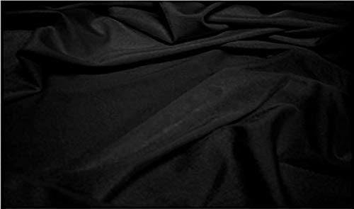 Fabrics-City Tessuto Costume da Bagno in Lycra Molto Elastico Nero, 2472