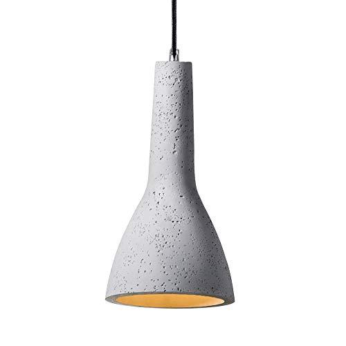 SSC-LUXon Lámpara colgante ROA con bombilla LED E27 de Osram (10 W, luz blanca cálida) – Lámpara de techo de diseño, 1 foco, con cable de tela