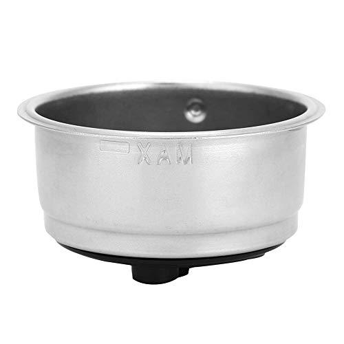 DEWIN Filterkorb - Filterkorb aus Edelstahl Abnehmbarer Kaffeefilterkorb aus Edelstahl Sieb Kaffeemaschinenzubehör für das Home Office(Double)