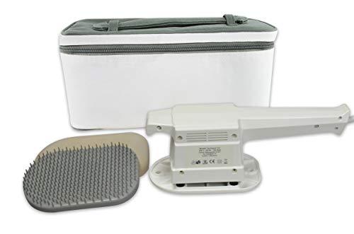 Vibrax Massage-Handgerät Senator Export 3 D, Flächen-Massagegerät inkl. Aufbewahrungskoffer, Kunststoff-Hyperämisierungsbürste und Moosgummischuh
