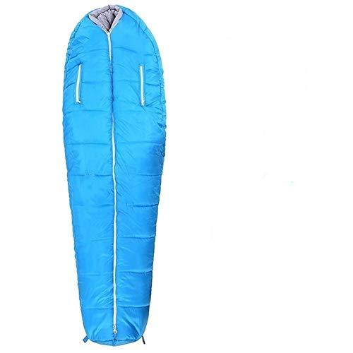 Edward Jackson Outdoor Products Schlafsack Leichte DREI Jahreszeit Daunendecke ideal for Outdoor-Camping Backpacking und Hängematten Schlafsack für Camping im Freien (Color : Blue)