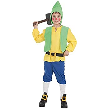 Disfraz de Enanito amarillo para niño: Amazon.es: Juguetes y juegos