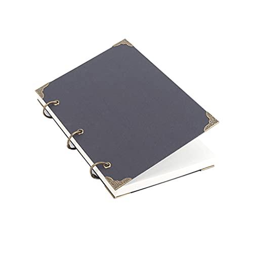 Cuaderno clásico Cuaderno de Hojas Sueltas + un bolígrafo Binder Ultra-grose Cuaderno en Blanco Papel Recargable 2 Bols Binder de Anillo para Hombres y Mujeres