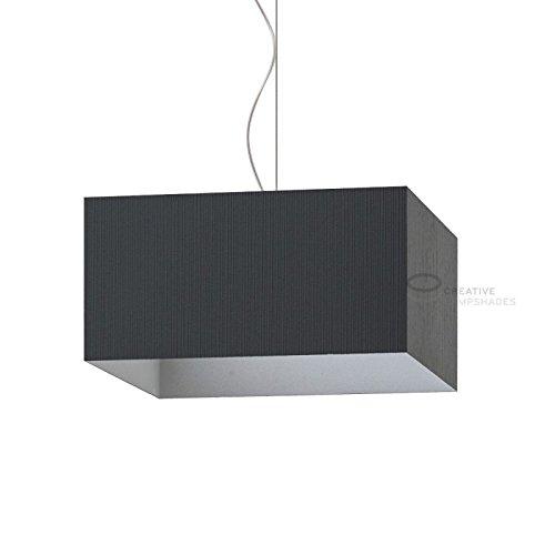 Creative lampshades beklede lampenkap parallelle piped zwart plissé organza