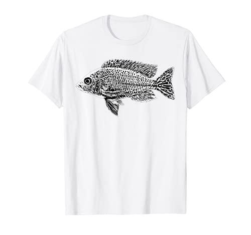 Cichlidé du Malawi Aulonocara Poissons d'aquarium Aquariste T-Shirt