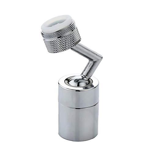 Universal Splash filtro del grifo de la boquilla, 720 ° rotativo del grifo de extensión del suplemento, baño grifo montado para lavarse la cara, haga gárgaras y los ojos Flush (rosca exterior)
