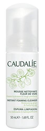 Caudalie Instant Foaming Cleanser: Daily Facial Cleanser that Cleanses, Soothes, Reduces Redness -Travel Size, 1.7 Ounce