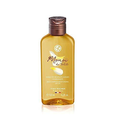 Yves Rocher Monoï Trockenes Öl Multi-use, Exotisch schöne Pflege für Haut und Haar, 1 x Pump-Flacon 125 ml