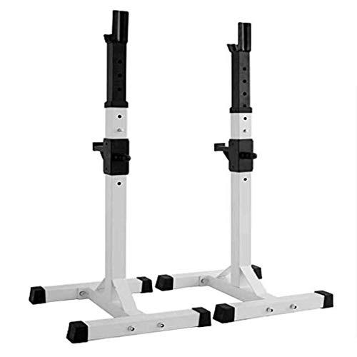 HFJKD MAX Load 200Kg Squat Rack Ajustable 95-147CM Steel Squat Stands Barbell Free-Press Bench Home Gym Portátil con Mancuernas Racks Stands (un par/Blanco)