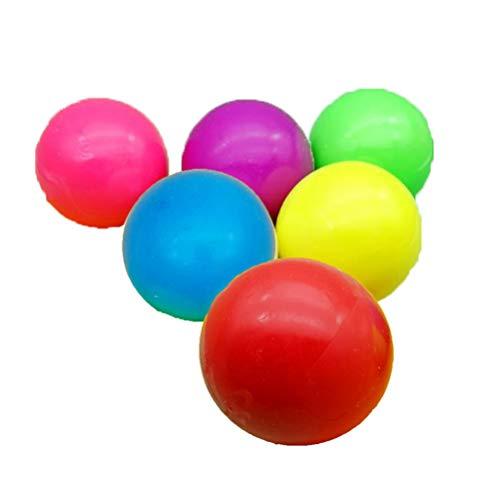 AMEOYYN Sticky Globbles Ball Stress Spielzeug, Fluoreszierende Klebrige Wand Ball Sticky Target Ball Dekompression Spielzeug Kid Geschenk Dekompression Kid Spielzeug (4+1, Cat paw Color Mixing)
