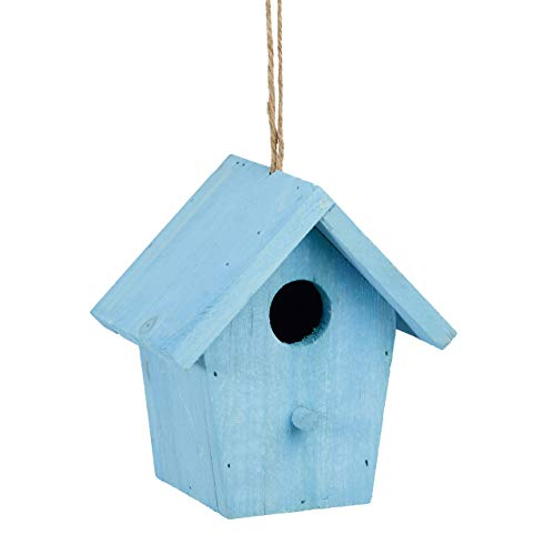 Reladays 10020732_45 Casa per Uccelli Colorata Legno Piccola Casetta Decorazione Primaverile HLP: 16 x 15 x 11 cm blu