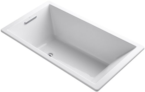 "KOHLER 1136-0 Underscore Rectangle Bathtub, 66""/5.5', White"