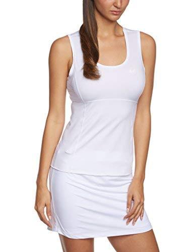 Ultrasport Montpellier - Camiseta sin mangas funcional para mujer, color blanco, talla XL